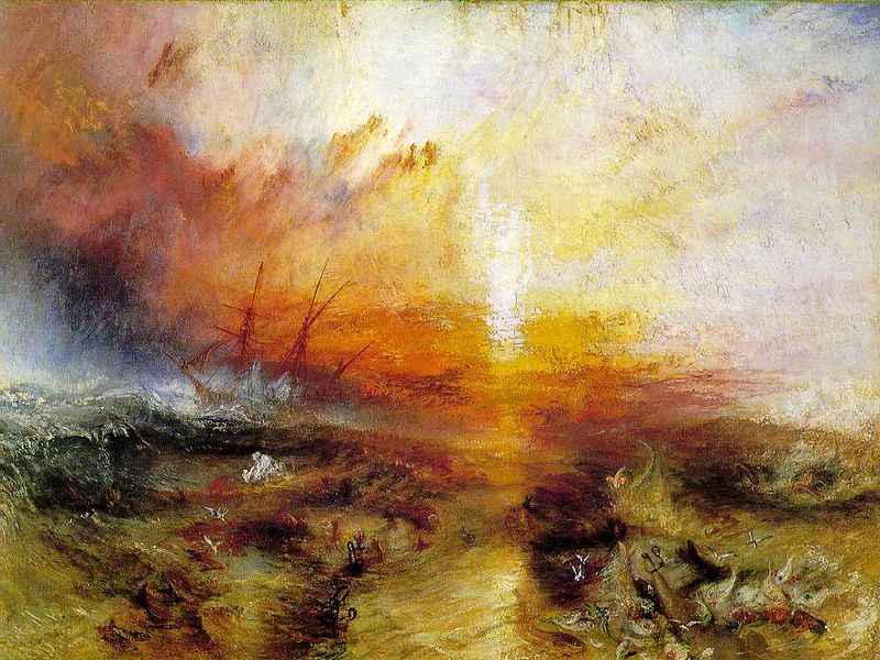 """The Slave Ship"" ή ""Slavers Throwing overboard the Dead and Dying — Typhon coming on"""